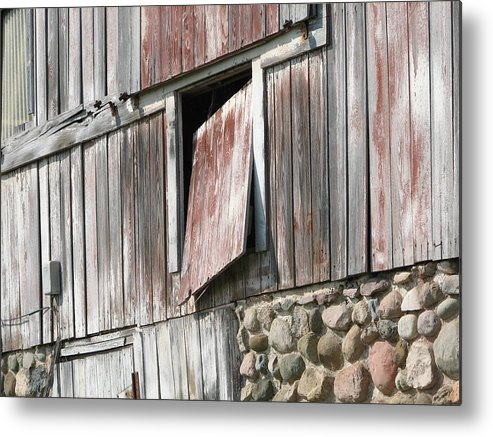 Barn Metal Print featuring the photograph Who Let The Cow Out by Michelle Shull
