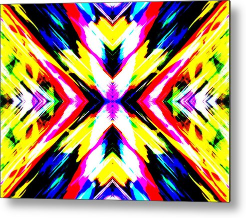 Abstract Landscape Metal Print featuring the photograph With Force Part 2 by Danny Lally