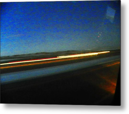 Abstract Metal Print featuring the photograph Wyoming I-25 by Lenore Senior
