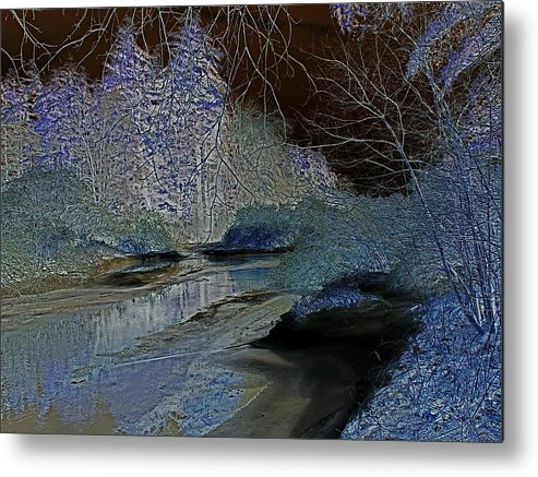 Digital Metal Print featuring the photograph Blue Ice by Peter Gray