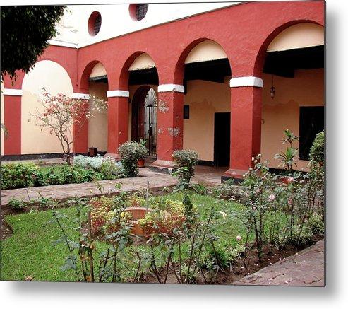 Lima Metal Print featuring the photograph Lima Peru Garden by Brett Winn