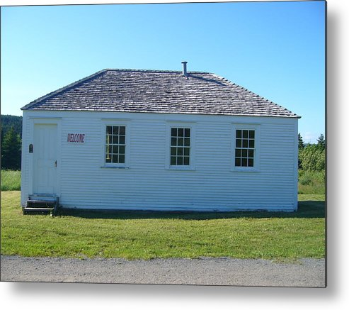 Landscape Metal Print featuring the photograph School House by Sharon Stacey
