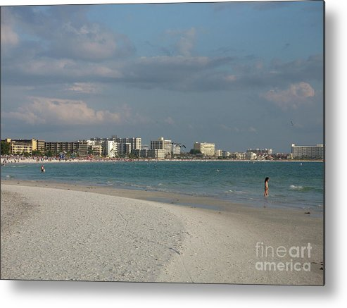Beach Metal Print featuring the photograph Siesta Key Beach by Christiane Schulze Art And Photography