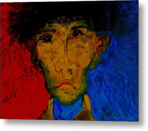 People Metal Print featuring the painting Untitled by Teo Santa