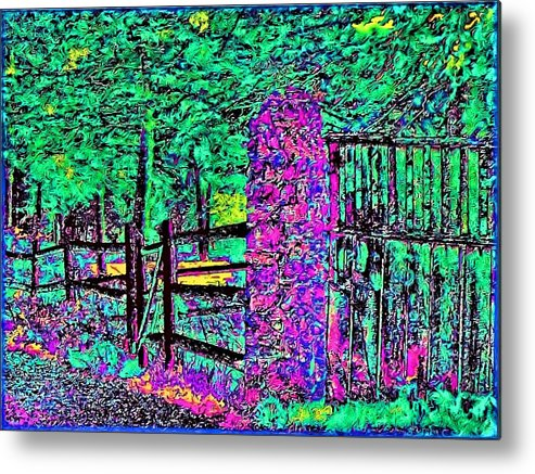 Landscape Metal Print featuring the photograph 08f Fences Of Maine by Ed Immar