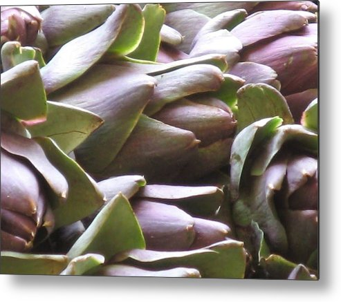 Venice Metal Print featuring the photograph Artichokes by Erla Zwingle