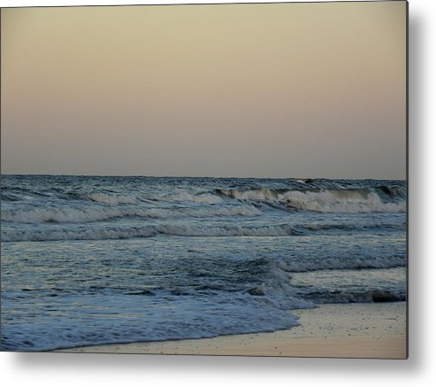 Beach Metal Print featuring the photograph Beach Sunset-2 by Janet Dickinson
