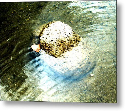 Rocks Metal Print featuring the painting Beside Still Waters by Tim Tanis