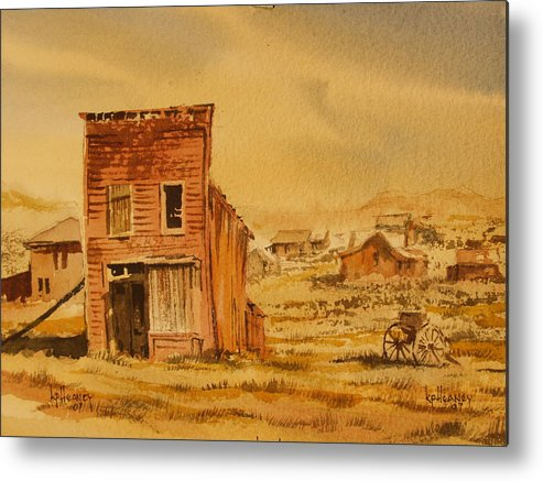 Historic Metal Print featuring the painting Bodie California by Kevin Heaney