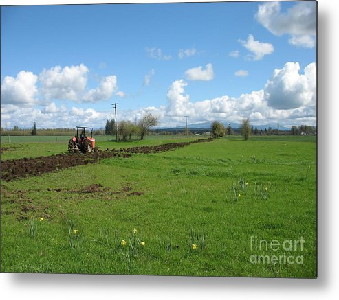 Tractor Metal Print featuring the photograph Breaking Ground by Juli House