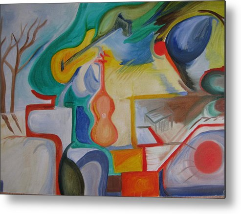 Abstract Metal Print featuring the painting Color Jam by Antonio Raul