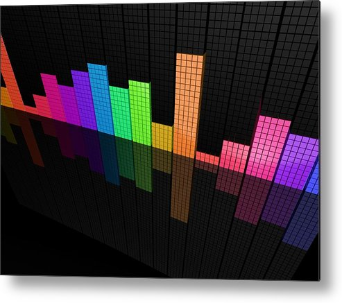 Colors Metal Print featuring the digital art Colors by Dorothy Binder