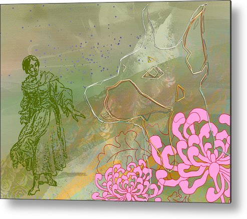 Woman Metal Print featuring the digital art Dogs In The Wild by Alfred Degens