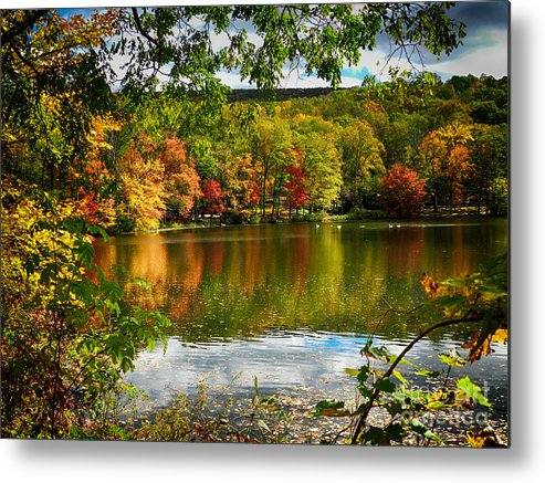 Lake Metal Print featuring the photograph Fall In Pennsylvania by Carol A Commins
