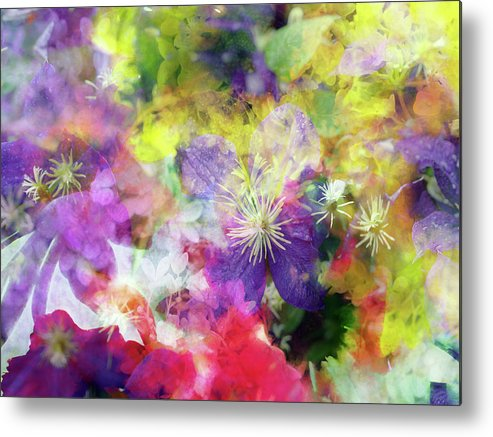 Flowers Metal Print featuring the photograph Floral Art Cix by Tina Baxter