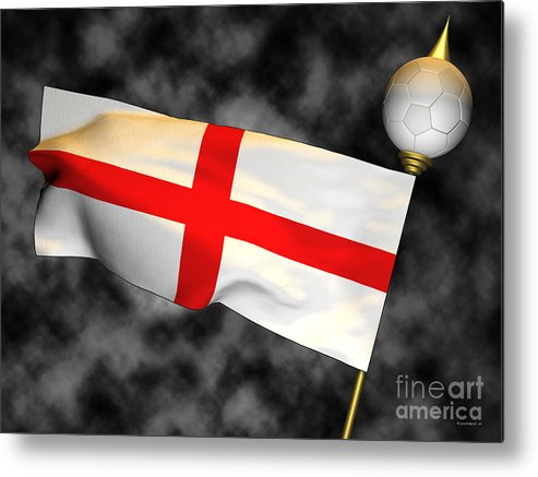 Fifa Metal Print featuring the photograph Football World Cup Cheer Series - England by Ganesh Barad