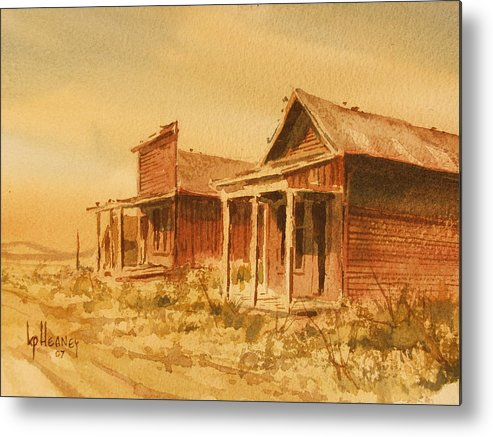 Historic Metal Print featuring the painting Gold Point Nevada by Kevin Heaney