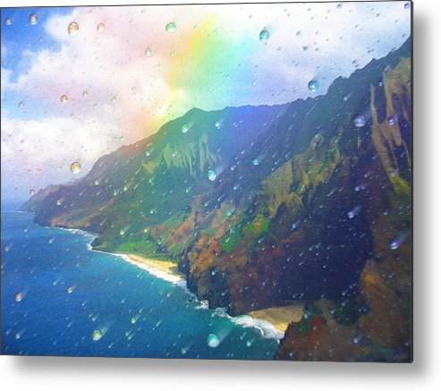Rainbow Metal Print featuring the painting Inside A Rainbow by Robby Donaghey
