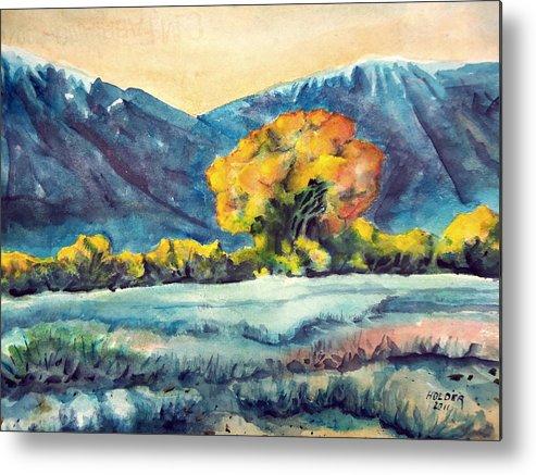 Eastern Sierra Metal Print featuring the painting Judys Tree by Steven Holder