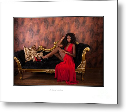 Natasha Metal Print featuring the photograph Lady In Red by Anthony Wadham