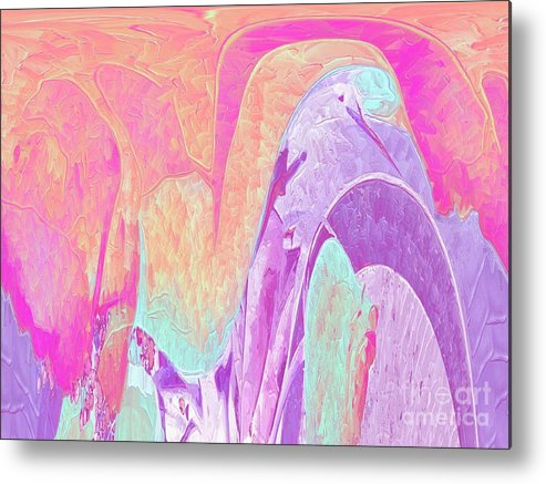 Pastel Colors Metal Print featuring the digital art Lovely To Look At by Deborah Selib-Haig DMacq