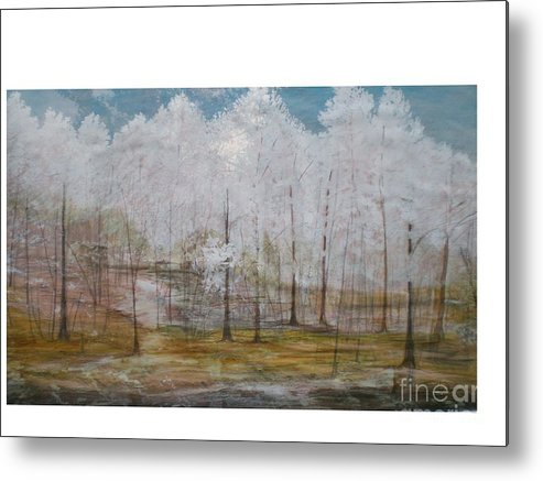 Snow At Maggie Valley Metal Print featuring the painting Maggie Valley by Hal Newhouser