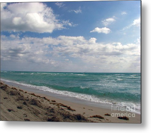 Miami Beach Metal Print featuring the photograph Miami Beach by Amanda Barcon