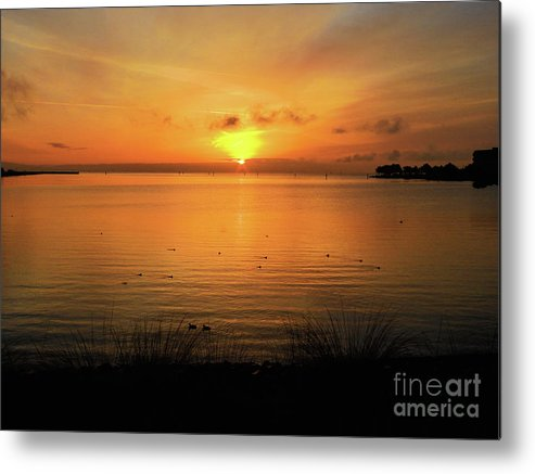 Oysterbay-sunrise Metal Print featuring the photograph Morning Calm by Scott Cameron