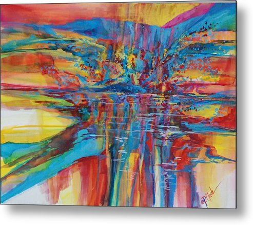 Navajo Metal Print featuring the painting Navajo Reflections by Donna Pierce-Clark