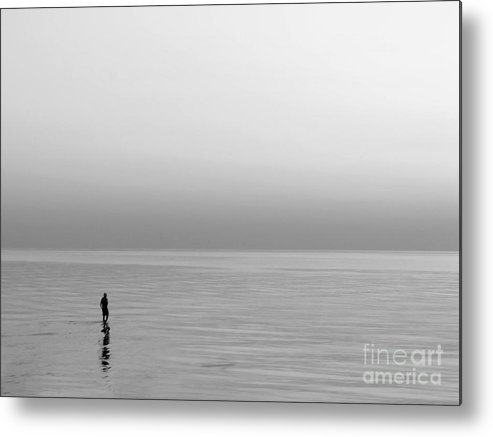 Lake Metal Print featuring the photograph One Man by Dana DiPasquale