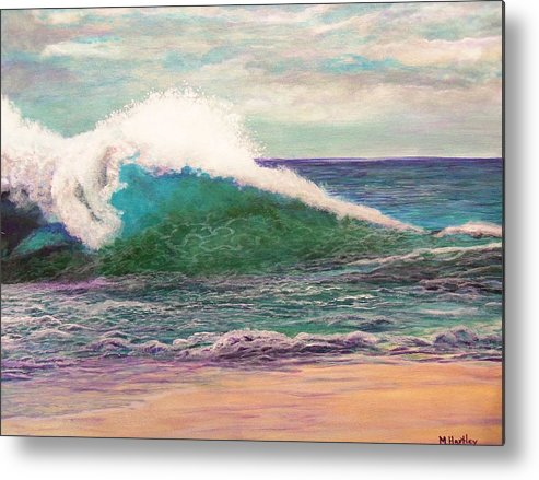 Sea Metal Print featuring the painting Powerful Sea by Mike Hartley