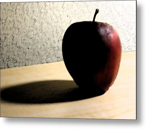 Apple Metal Print featuring the digital art Red Apple by Eric Forster