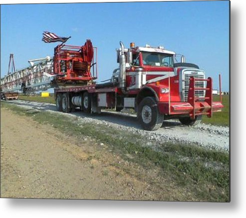 Machine Metal Print featuring the photograph rig by Tanya Clark