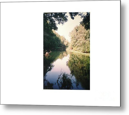 Reflection Of A Beautiful River Metal Print featuring the photograph Silver River by Hal Newhouser