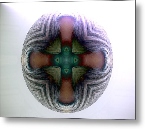 Sphere Metal Print featuring the digital art Spheres by Raynard Cantwell
