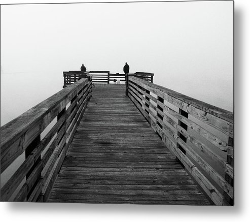 Boat Metal Print featuring the photograph Study Of Low Light - The Mist by Jonathan Parsons