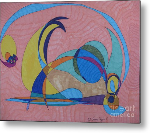 Abstract Metal Print featuring the mixed media Susan's Prism by James Sheppardiii