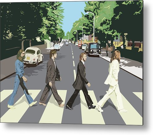 The Beatles Metal Print featuring the digital art The Beatles by Mery Moon