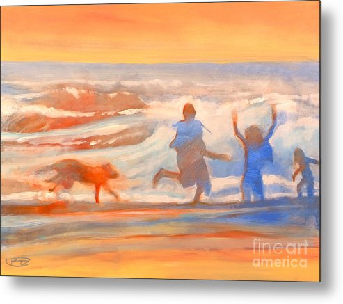 Kids Metal Print featuring the painting Vacation Kids by Kip Decker