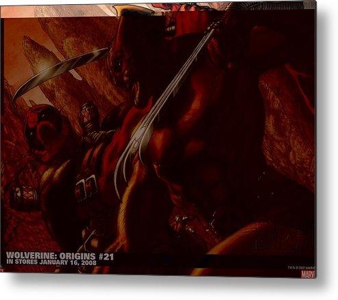 Wolverine Metal Print featuring the digital art Wolverine by Dorothy Binder