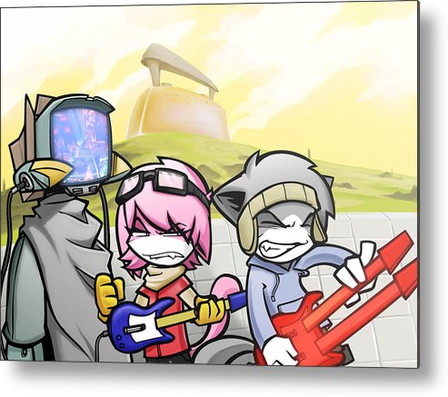Flcl Metal Print featuring the digital art Flcl by Mery Moon