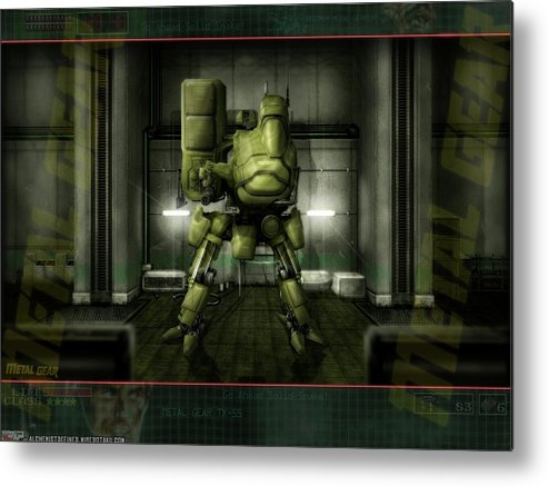 Metal Gear Metal Print featuring the digital art Metal Gear by Mery Moon