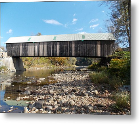 Woodstock Metal Print featuring the photograph 1877 Covered Bridge by Catherine Gagne