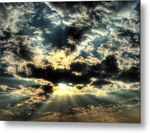 Sky Metal Print featuring the digital art Sky by Mery Moon
