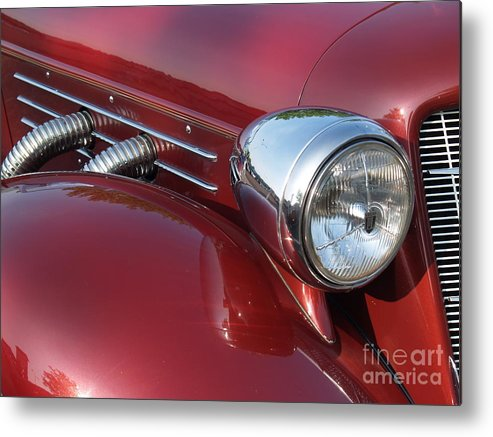 Cord Metal Print featuring the photograph 1937 Cord Phaeton In Burgundy by Anna Lisa Yoder