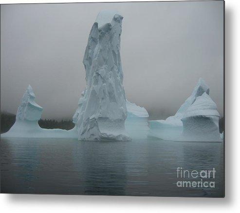 Icebergs Newfoundland Metal Print featuring the photograph Icebergs by Seon-Jeong Kim