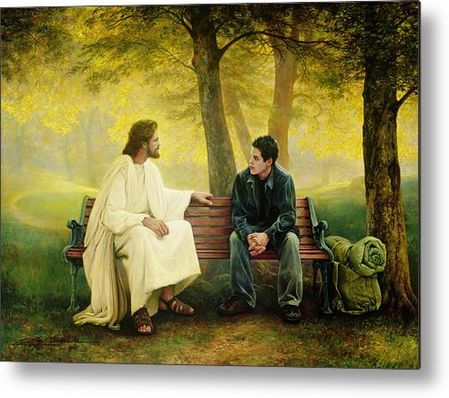 Jesus Metal Print featuring the painting Lost And Found by Greg Olsen