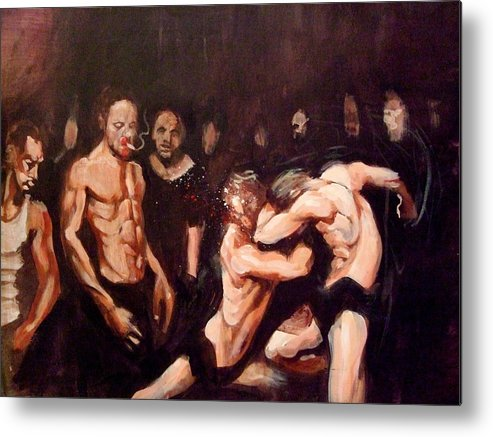 Fight Metal Print featuring the painting Untitled by Chris Slaymaker