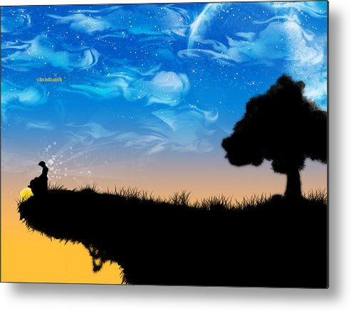 Nature Metal Print featuring the digital art Nature by Mery Moon