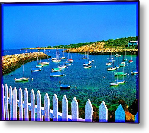 Seascape Metal Print featuring the photograph 2381 Rock Harbor by Ed Immar